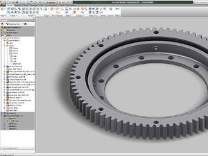 3D modeling for a slewing ring